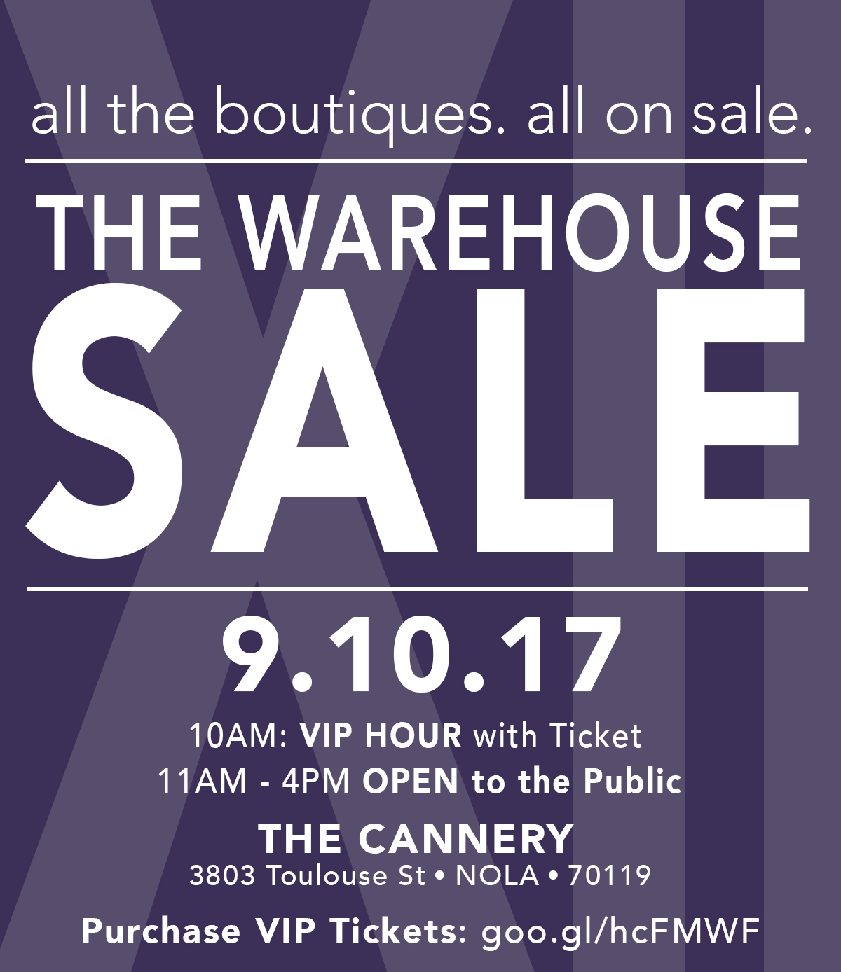 The Warehouse Sale By Alg Style Sponsored By Cue Magazine Tickets