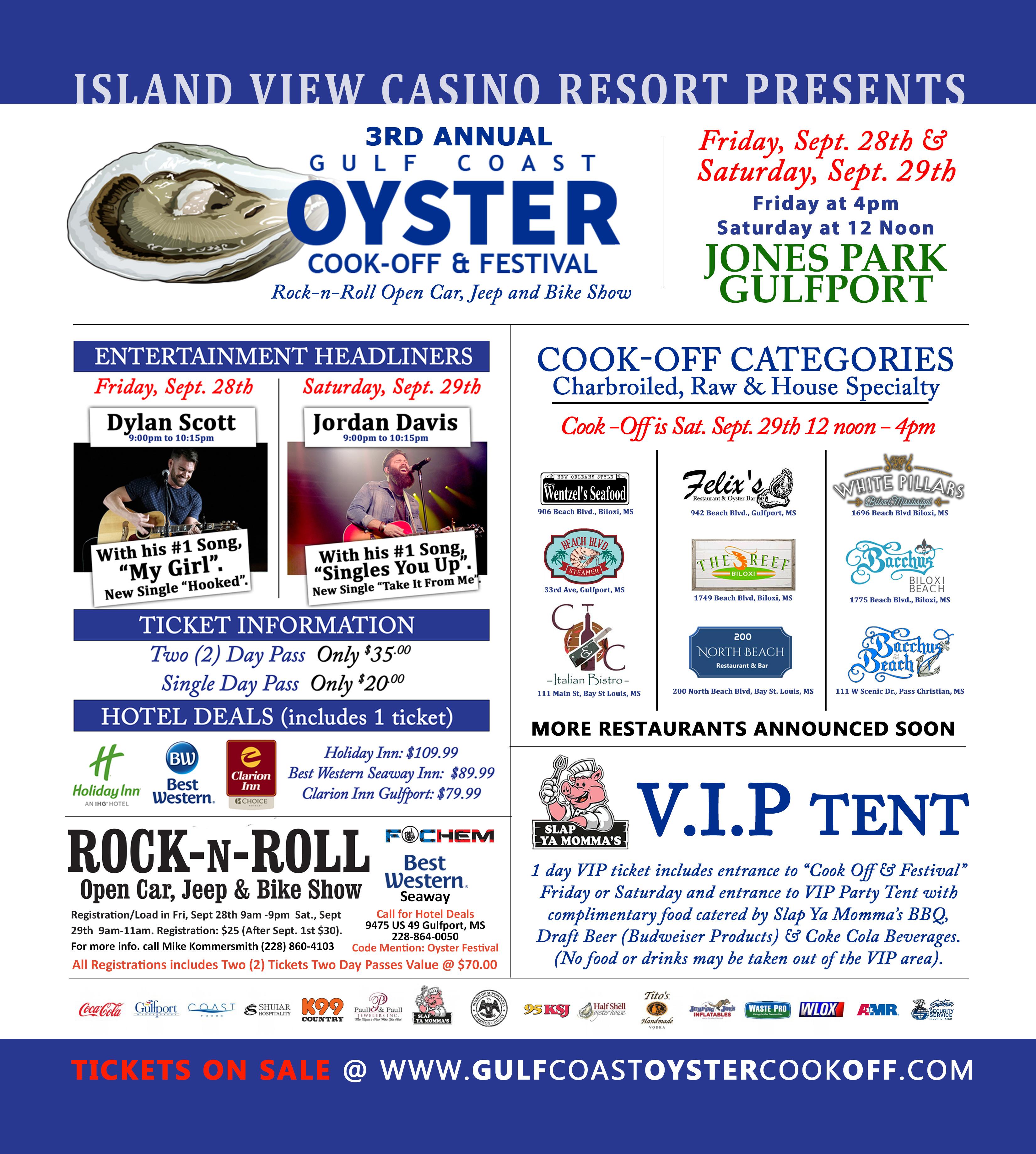 Gulf Coast Oyster Cook-Off & Festival Tickets   Jones Park ...